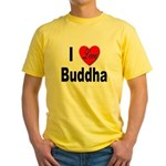 I Love Buddha Yellow T-Shirt