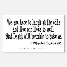 Laugh at the Odds Rectangle Decal