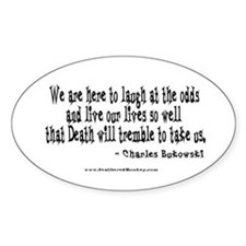 Laugh at the Odds Oval Decal