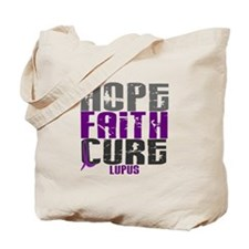 HOPE FAITH CURE Lupus Tote Bag