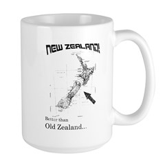 NZ, Better than Old Zealand Large Mug
