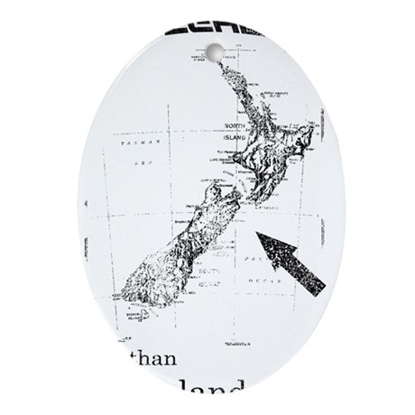 NZ, Better than Old Zealand Oval Ornament