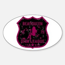 Bead Queen Diva League Oval Decal