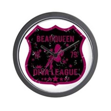 Bead Queen Diva League Wall Clock