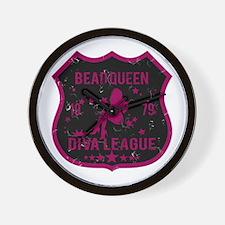Bead Queen Diva League Wall Clock