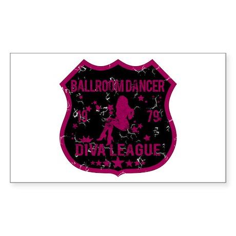 Ballroom Dancer Diva League Rectangle Sticker