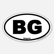 Bulgaria BG Euro Oval Country Code Decal