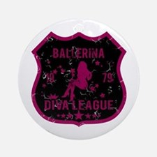 Ballerina Diva League Ornament (Round)