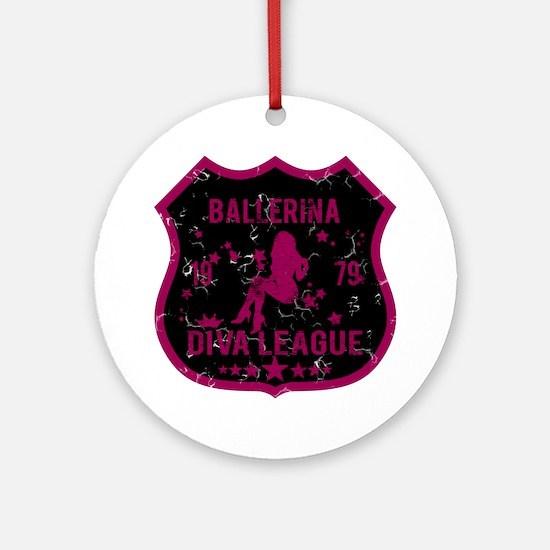 Ballerina Diva League Ornament (Round)