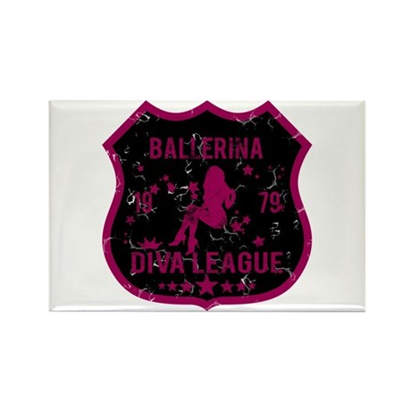 Ballerina Diva League Rectangle Magnet