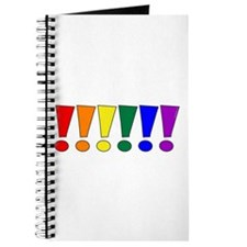 Rainbow Exclamation Points Journal