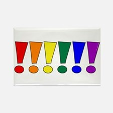 Rainbow Exclamation Points Rectangle Magnet