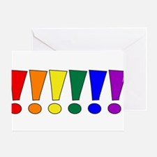 Rainbow Exclamation Points Greeting Card