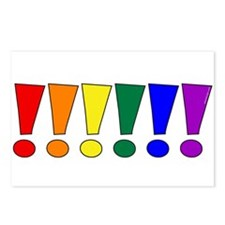 Rainbow Exclamation Points Postcards (Package of 8