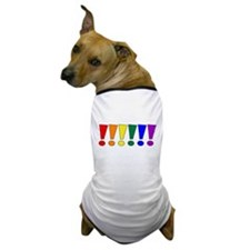 Rainbow Exclamation Points Dog T-Shirt