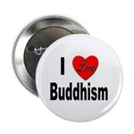 I Love Buddhism Button