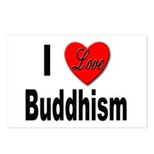 I Love Buddhism Postcards (Package of 8)