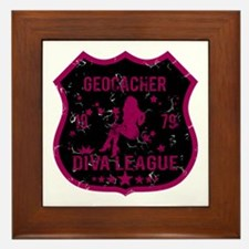 Geocacher Diva League Framed Tile