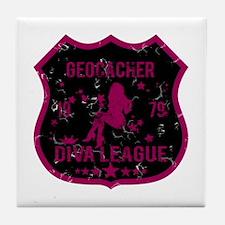 Geocacher Diva League Tile Coaster