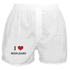I Love Mom Jeans Boxer Shorts