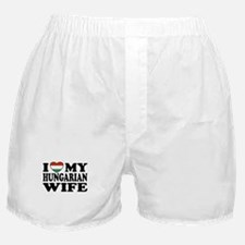 I Love My Hungarian Wife Boxer Shorts