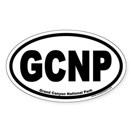 Grand Canyon National Park GCNP Euro Oval Sticker