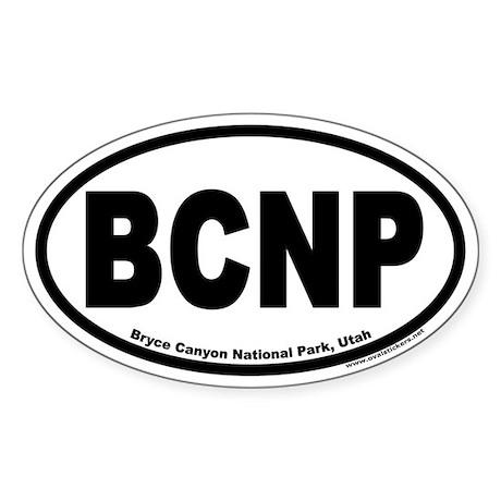 Bryce Canyon National Park BCNP Euro Oval Sticker