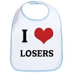 I Love Losers Bib