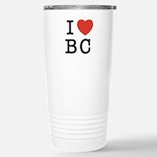 I Heart BC Stainless Steel Travel Mug