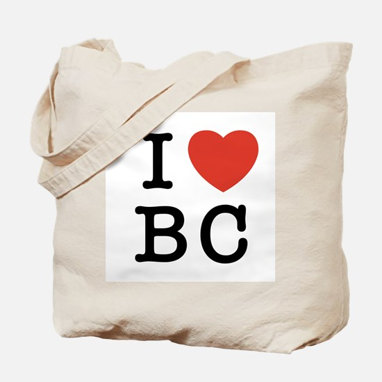 I Heart BC Tote Bag