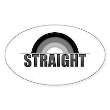 Straight Rainbow Oval Decal