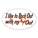 I like to rock out Oval Sticker