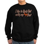 I like to rock out Sweatshirt (dark)