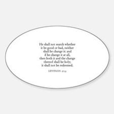 LEVITICUS 27:33 Oval Decal