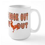 I like to rock out Large Mug