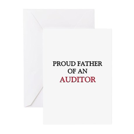 Proud Father Of An AUDITOR Greeting Cards (Pk of 1