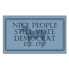 Nice Democrats. Rectangle Sticker