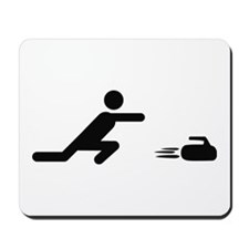 black curling logo curl symb Mousepad