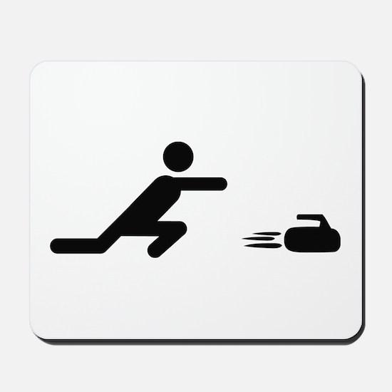 black curling logo curl symb Mousepad