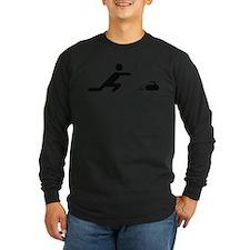 black curling logo curl symb T