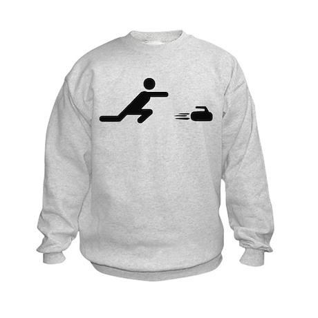 black curling logo curl symb Kids Sweatshirt