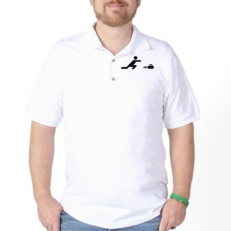 black curling logo curl symb Golf Shirt