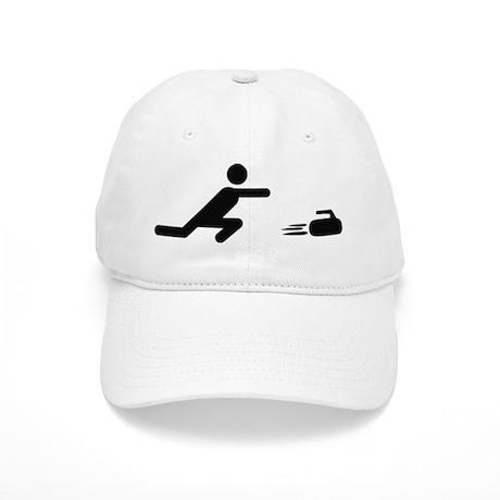 black curling logo curl symb Cap
