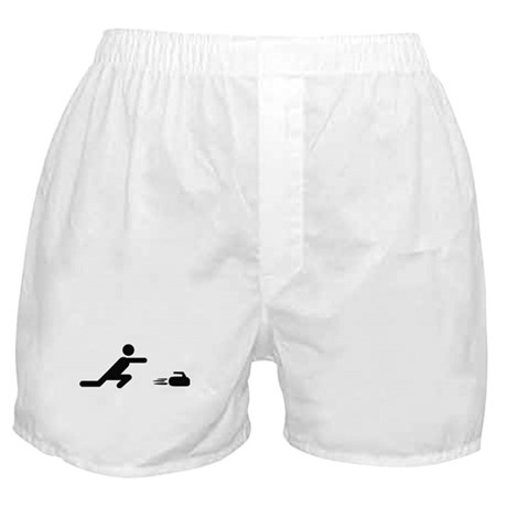 black curling logo curl symb Boxer Shorts