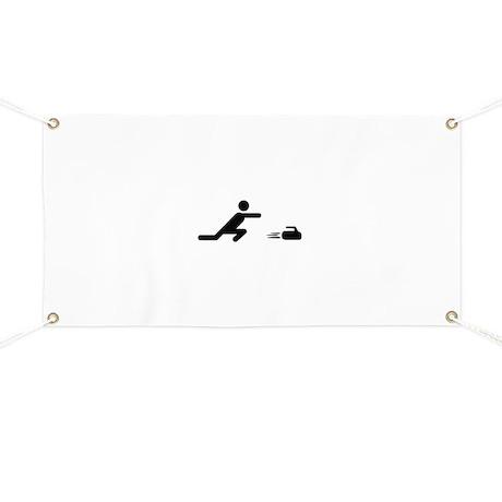 black curling logo curl symb Banner