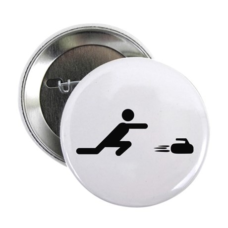 "black curling logo curl symb 2.25"" Button (10"