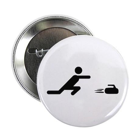 "black curling logo curl symb 2.25"" Button"