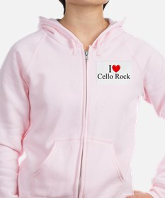 """I Love (Heart) Cello Rock"" Zip Hoodie"