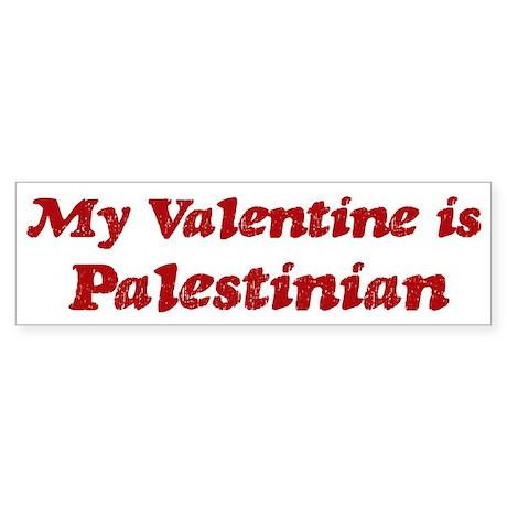 Palestinian Valentine Bumper Sticker
