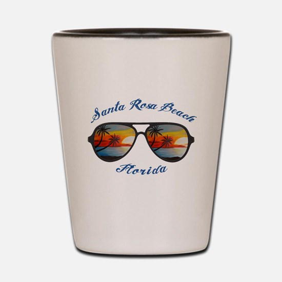 Florida - Santa Rosa Beach Shot Glass